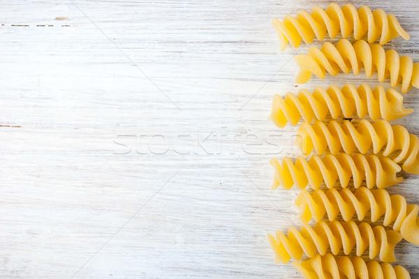 パスタ 白 表 水平な 背景 調理 ストックフォト © Karpenkovdenis
