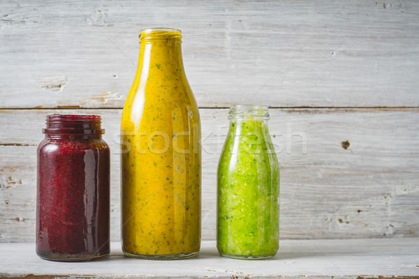 Verde giallo rosso vetro bottiglia Foto d'archivio © Karpenkovdenis