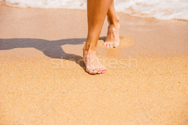 女性 フィート 砂 ビーチ 自然 海 ストックフォト © Karpenkovdenis