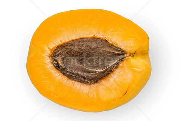 абрикос белый продовольствие фон оранжевый Сток-фото © Karpenkovdenis