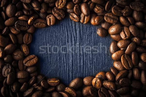 Cadre grain de café sombre café nature fond Photo stock © Karpenkovdenis