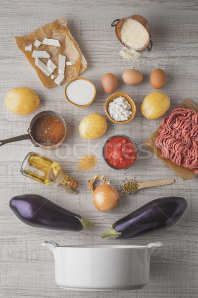 材料 白 表 金属 チーズ 調理 ストックフォト © Karpenkovdenis