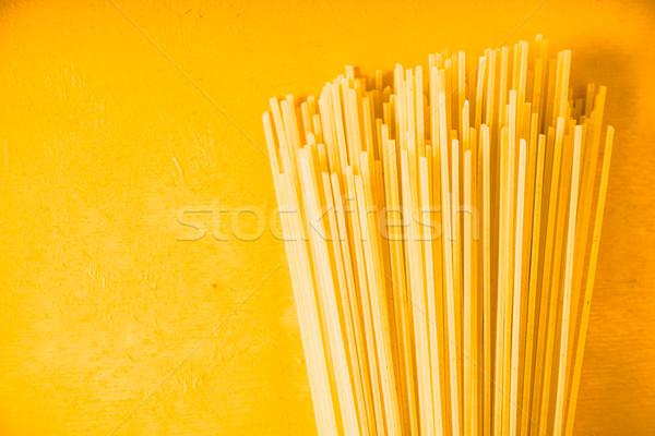生 スパゲティ 黄色 水平な 背景 キッチン ストックフォト © Karpenkovdenis