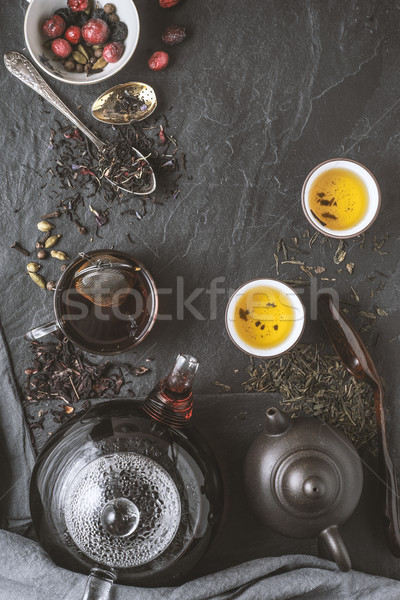 Tea diversity concept vertical Stock photo © Karpenkovdenis