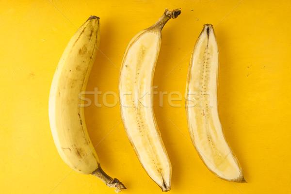 Bananas on a yellow background Stock photo © Karpenkovdenis