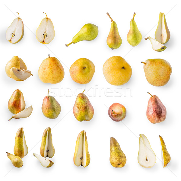 Collage of pears on the white background Stock photo © Karpenkovdenis