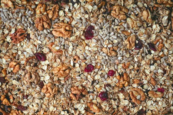 гранола завтрак Кука зерна диета Сток-фото © Karpenkovdenis