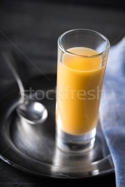 Liqueur  Advocaat on the dark background Stock photo © Karpenkovdenis