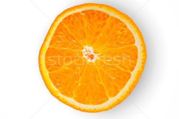 Slice of orange on the white background Stock photo © Karpenkovdenis