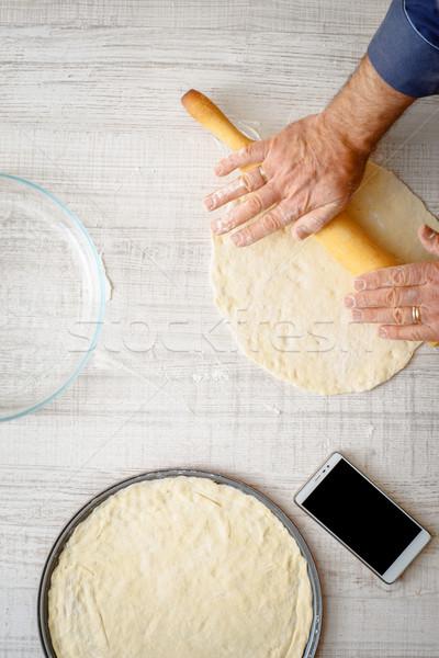 男 料理 2 キッチン 垂直 手 ストックフォト © Karpenkovdenis
