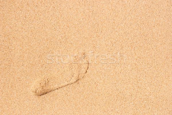 Footprint in the sand top view Stock photo © Karpenkovdenis