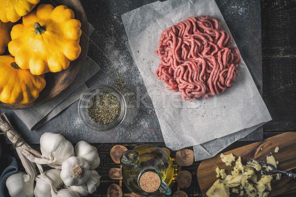 成分 詰まった 先頭 表示 食品 背景 ストックフォト © Karpenkovdenis