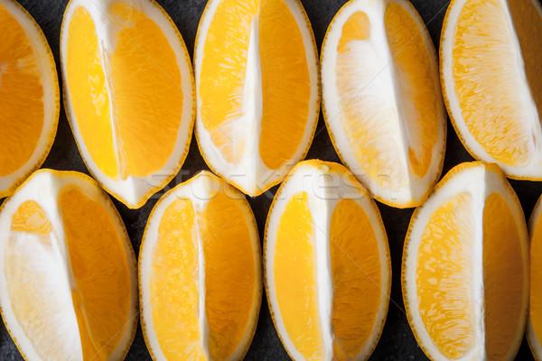 Arrangement Geel citroen horizontaal Stockfoto © Karpenkovdenis