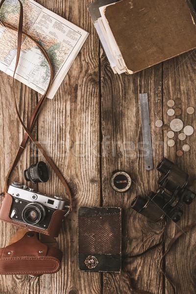 Conjunto coisas viajar topo ver Foto stock © Karpenkovdenis