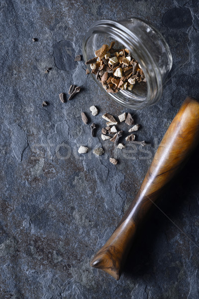 Spices mix on the stone background vertical Stock photo © Karpenkovdenis