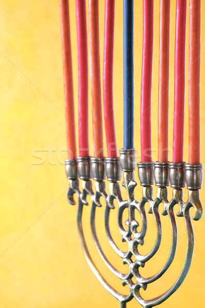 キャンドル 垂直 金属 油 赤 ランプ ストックフォト © Karpenkovdenis