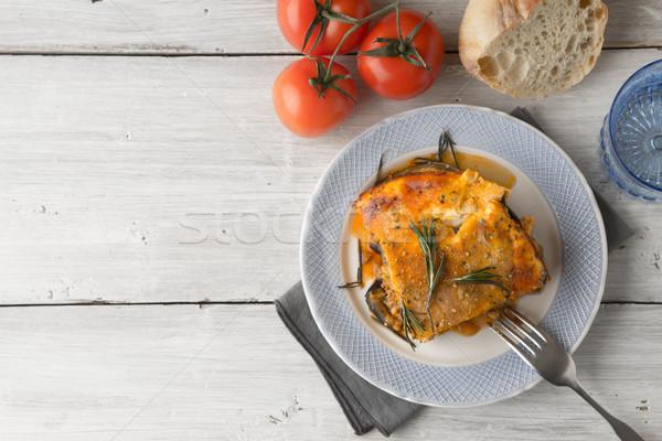 食べ 白 表 トマト パン 先頭 ストックフォト © Karpenkovdenis