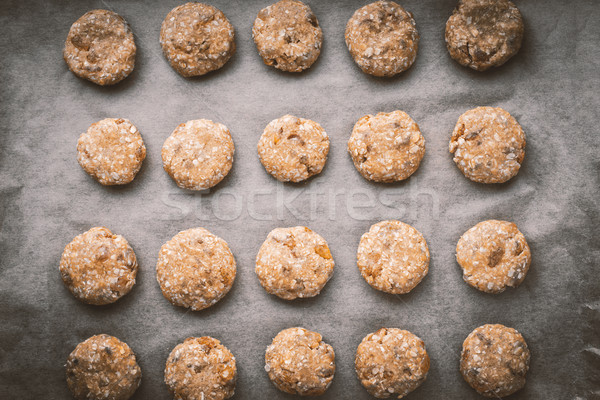 Oatmeal cookies on a baking sheet Stock photo © Karpenkovdenis