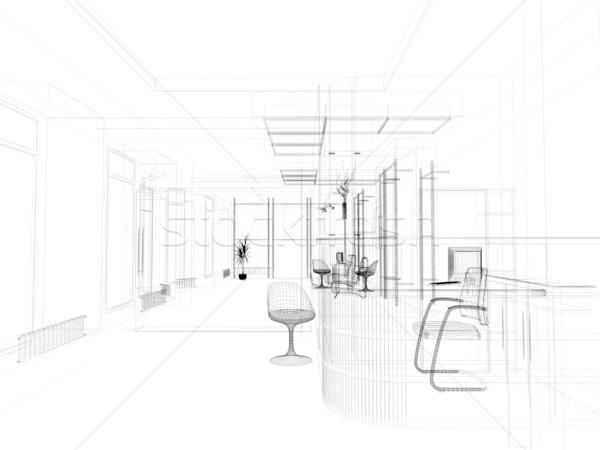 Ufficio interni moderno 3D immagine design Foto d'archivio © kash76