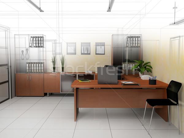 オフィス インテリア モダンなスタイル 3D レンダリング デザイン ストックフォト © kash76