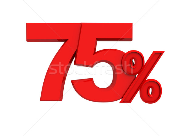 red sign 75 percent Stock photo © kash76