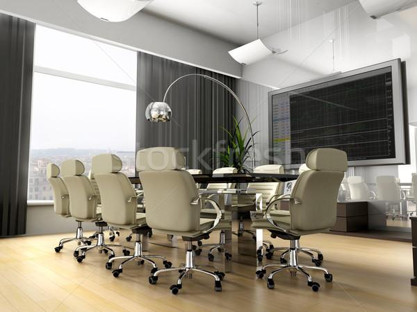 Quarto negociação escritório 3D imagem cidade Foto stock © kash76