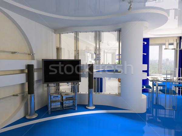 Interior dibujo habitación exclusivo de trabajo espacio Foto stock © kash76