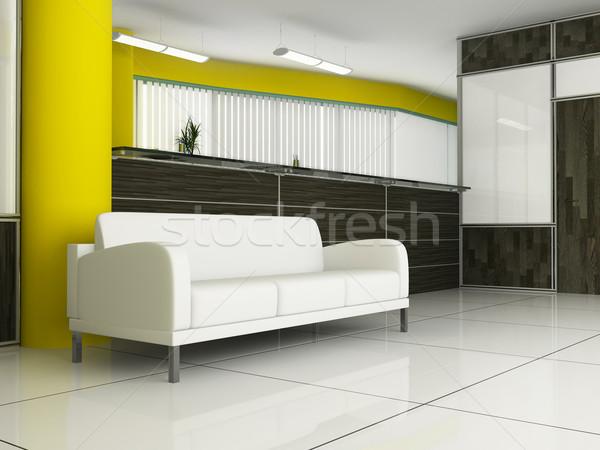 Luogo ufficio 3D immagine finestra tavola Foto d'archivio © kash76