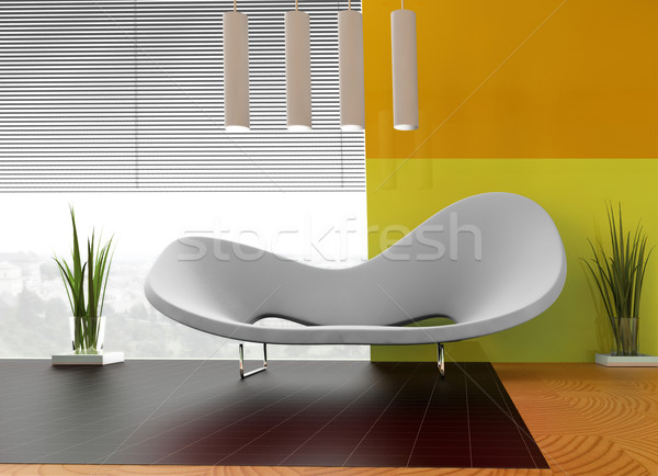 Witte sofa plaats appartement muur abstract Stockfoto © kash76