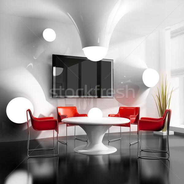Nuovo moderno cafe tavolo da pranzo 3D immagine Foto d'archivio © kash76