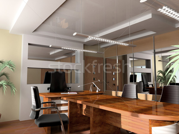 Foto stock: Moderna · oficina · interior · exclusivo · diseno · negocios