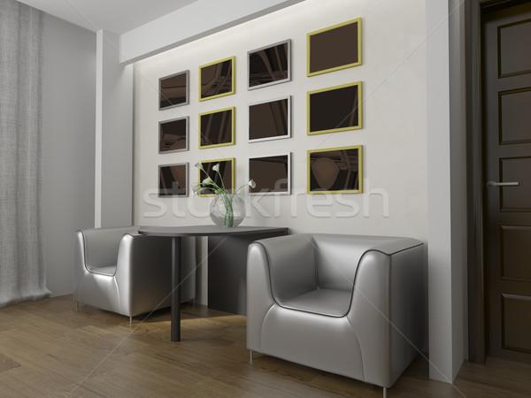 Luogo moderno interni 3D immagine ufficio Foto d'archivio © kash76