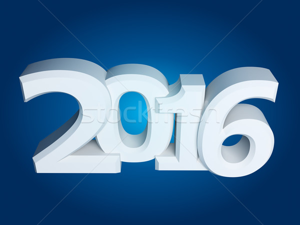 Figures 2016 on an blue background Stock photo © kash76