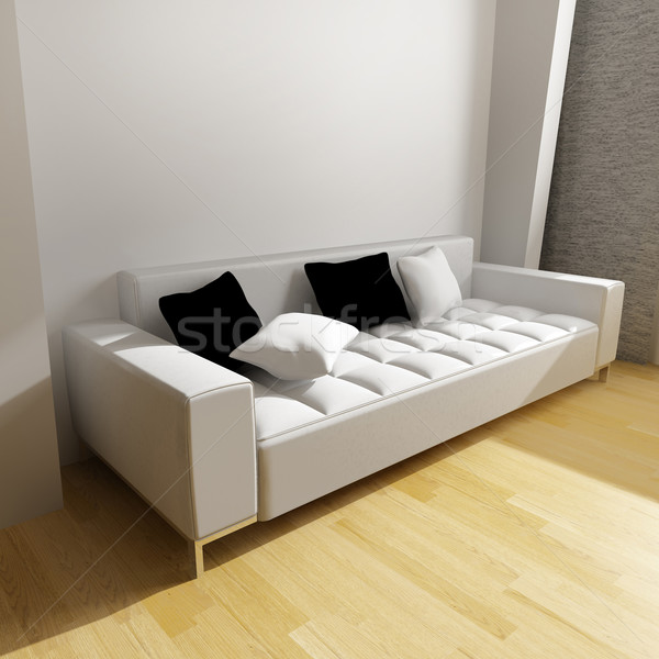 Bianco divano muro moderno interni home Foto d'archivio © kash76