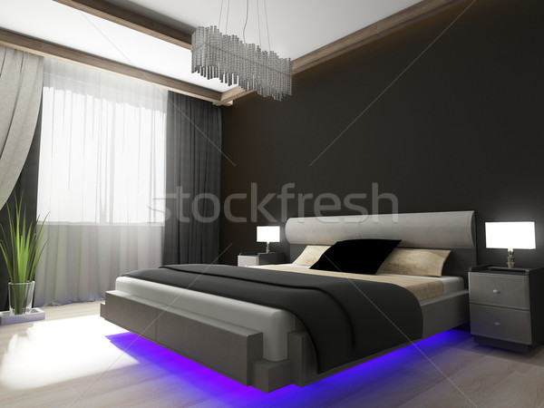 Bedroom in contemporary style stock photo © Alexey Kashin ...