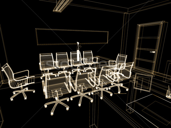 Escritório interior moderno 3D imagem vida Foto stock © kash76