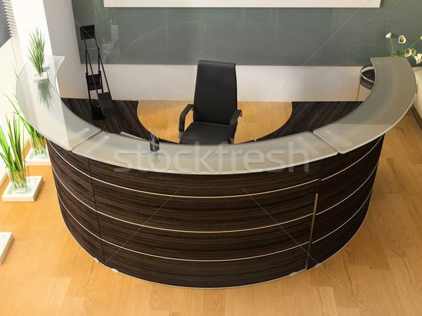 Reception ufficio moderno business design tavola Foto d'archivio © kash76