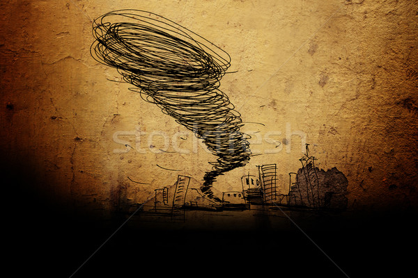 sketch of the hurricane Stock photo © kash76