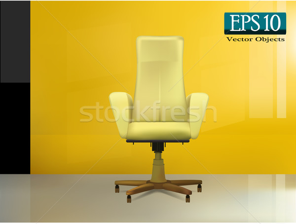 Beige office chair Stock photo © kash76