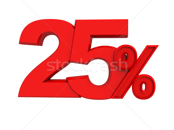 red sign 25 percent Stock photo © kash76