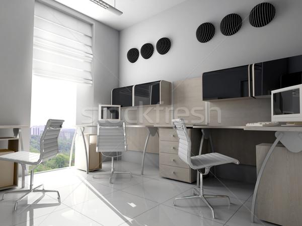 современных служба интерьер бизнеса моде городского Сток-фото © kash76