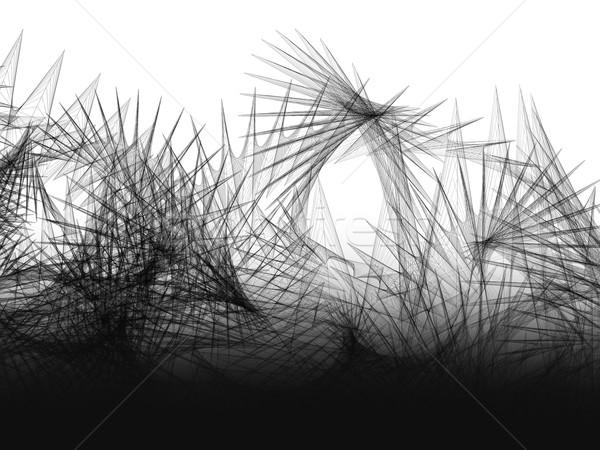 Abstract fantastico linee in bianco e nero medicina star Foto d'archivio © kash76