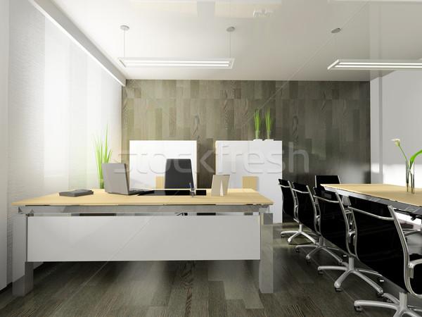 Moderno interni ufficio 3D immagine design Foto d'archivio © kash76