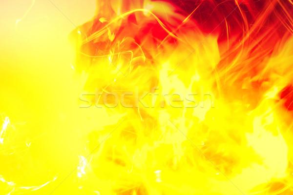 Flash fuoco nero abstract luce sfondo Foto d'archivio © kash76