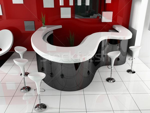 Foto stock: Recepción · moderna · hotel · 3D · imagen · viaje