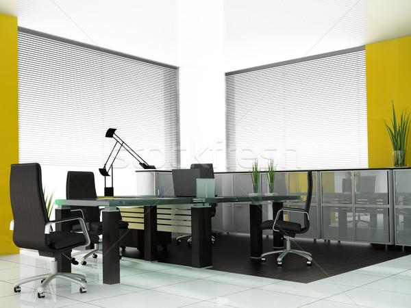 Moderno quarto reuniões 3d render negócio reunião Foto stock © kash76