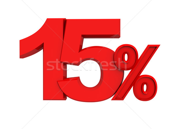 red sign 15 percent Stock photo © kash76