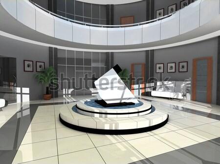 Disegno stanza sferico panorama moderno interni Foto d'archivio © kash76