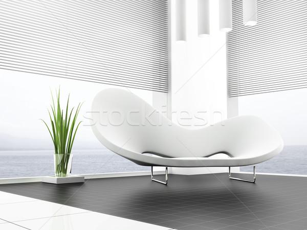 Bianco divano luogo appartamento business città Foto d'archivio © kash76