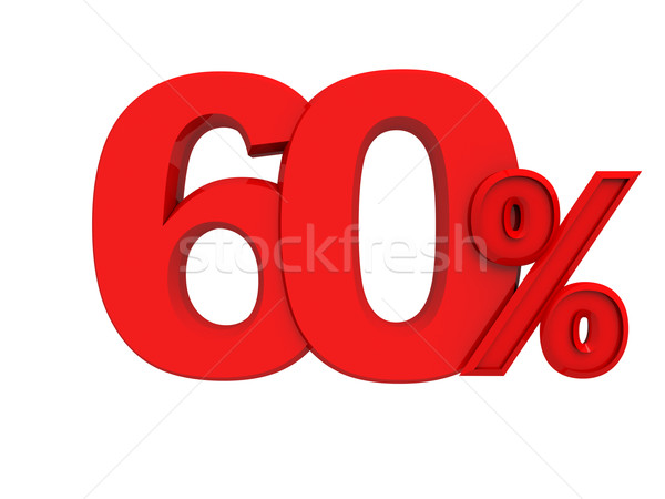 red sign 60 percent Stock photo © kash76